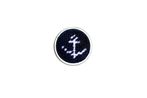 anchor needlepoint cufflinks by Asher Riley