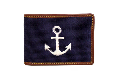Anchor Needlepoint Wallet by Asher Riley