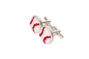 Baseball needlepoint cufflinks by Asher Riley