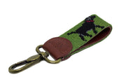 BLACK LAB NEEDLEPOINT KEY FOB™