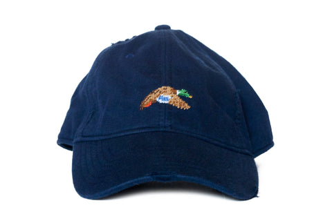 Flying Mallard Needlepoint Hat Asher Riley