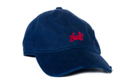 Crab needlepoint hat navy Asher Riley
