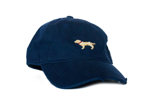 Golden Retriever Needlepoint Hat Asher Riley