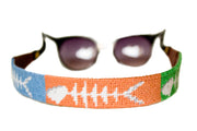 Bonefish needlepoint sunglass straps by Asher Riley