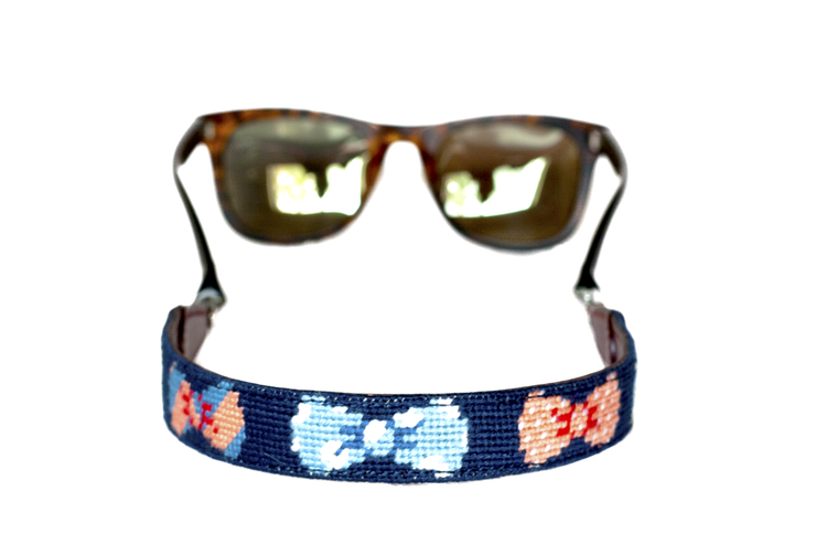 Asher Riley, Bow Tie needlepoint strap, Ray Bans