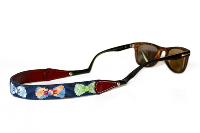 Asher Riley, Bow Tie needlepoint sunglass straps