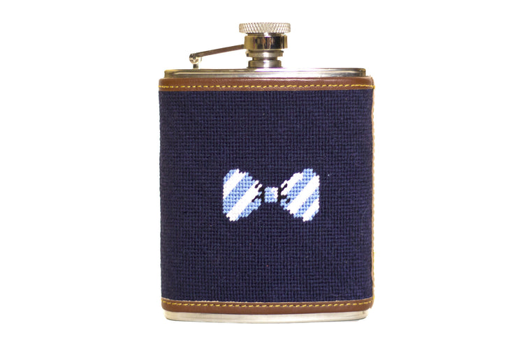 Needlepoint Bow Tie Flask by Asher Riley