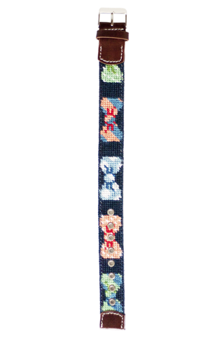 Asher Riley, Bow Tie needlepoint watch strap