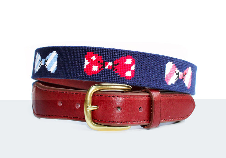asher riley children's needlepoint bow tie belt