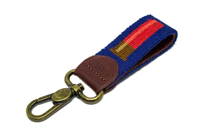 shotgun shell needlepoint key fob by Asher Riley