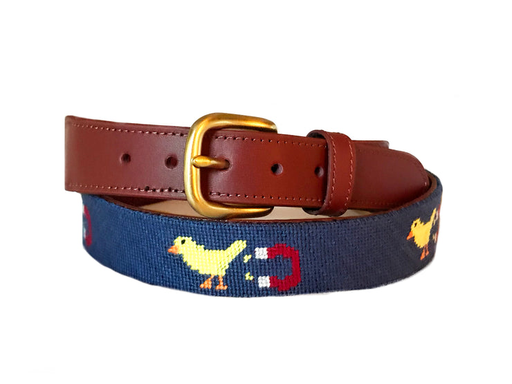 Chick Magnet Needlepoint Belt by Asher Riley