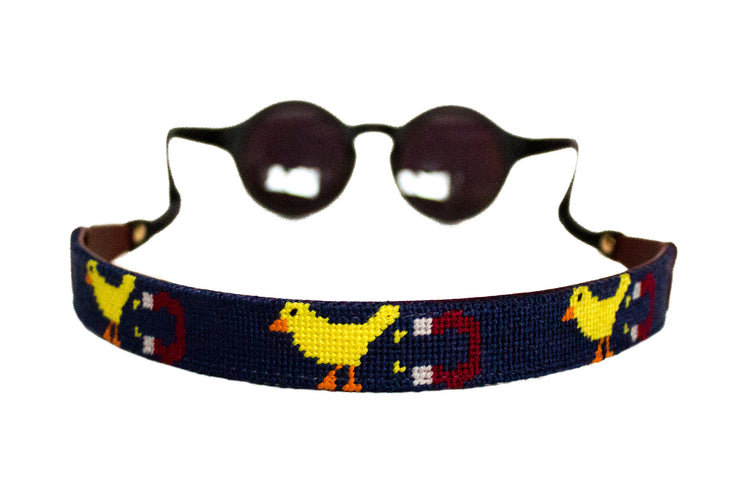 Asher Riley needlepoint chick magnet sunglass straps