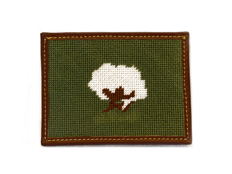 COTTON BOLL NEEDLEPOINT CARD WALLET