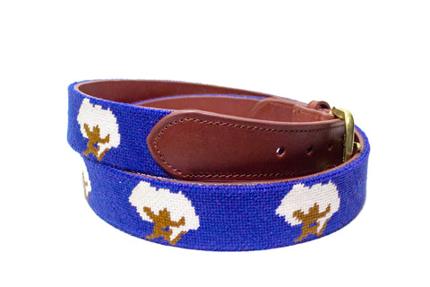 Cotton Boll Needlepoint Belt by Asher Riley
