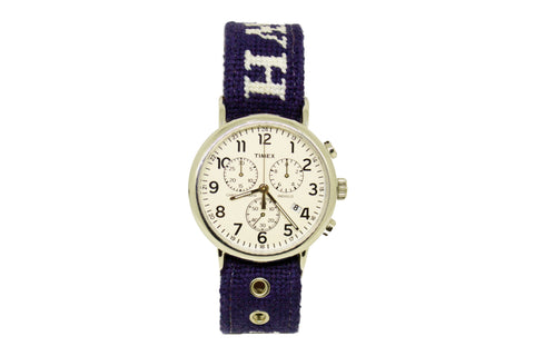 Asher Riley monogrammed needlepoint watch strap