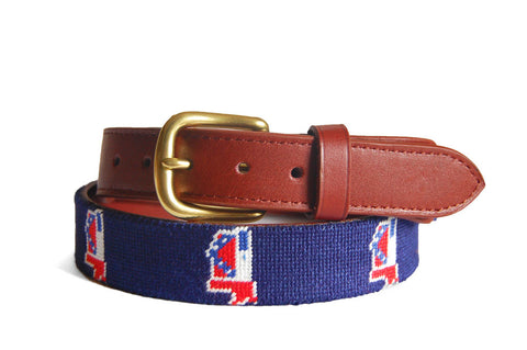 Asher Riley Mississippi Flag Needlepoint Belt
