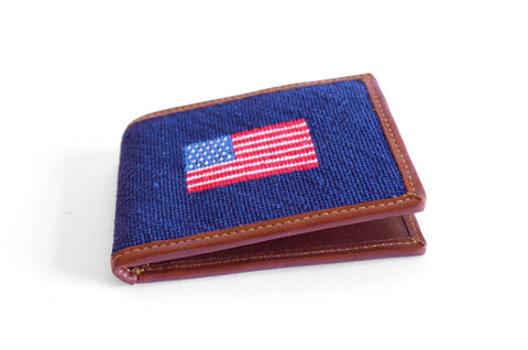 american flag needlepoint wallet by asher riley