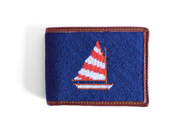 Asher Riley Sailboat Needlepoint Wallet