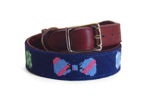 Asher Riley Bow Tie Needlepoint Dog Collar