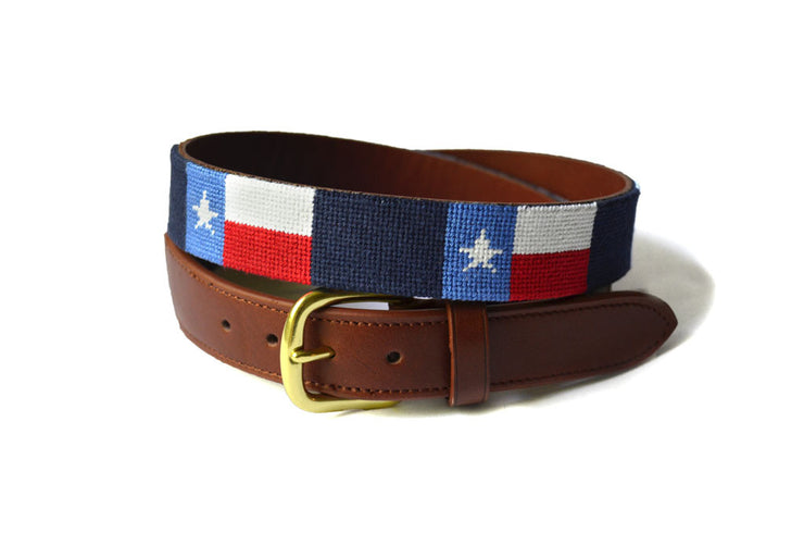 Asher Riley Texas Flag Needlepoint Belt