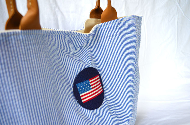 Striped USA Tote