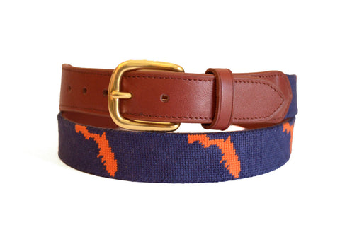 Asher Riley State of Florida Needlepoint Belt