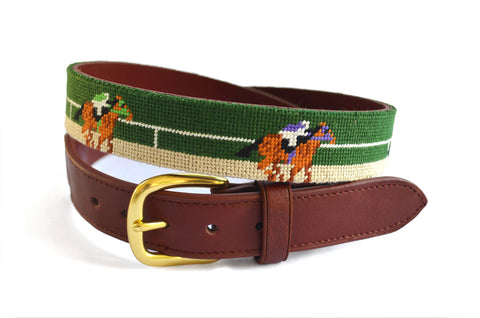 Asher Riley Derby Needlepoint Belt