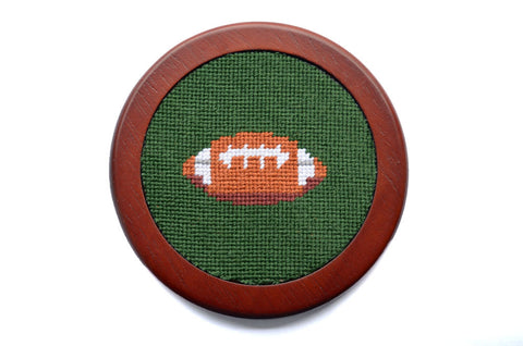 Asher Riley Football Needlepoint Coaster