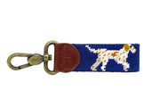 Pointer dog needlepoint key fob by Asher Riley