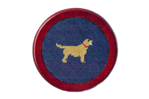 Golden Retriever Needlepoint Coaster