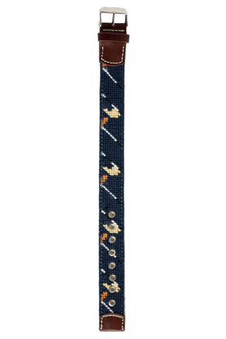 Golf Classic Needlepoint Watch Strap