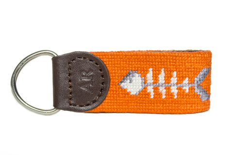 bonefish needlepoint key fob by asher riley