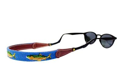 Fish Needlepoint Sunglass Straps by Asher Riley
