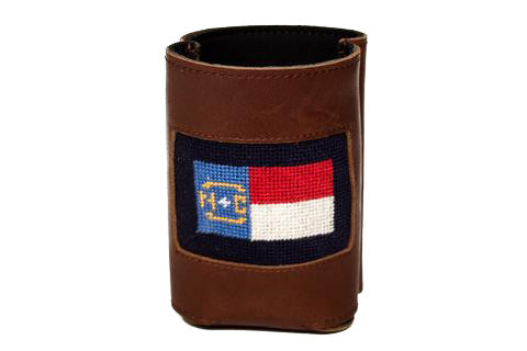 Needlepoint North Carolina Flag Can Cooler by Asher Riley