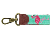 FLAMINGO NEEDLEPOINT KEY FOB™