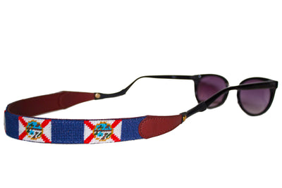 Florida Flag Needlepoint Sunglass Straps by Asher Riley