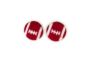 Asher Riley football needlepoint cufflinks