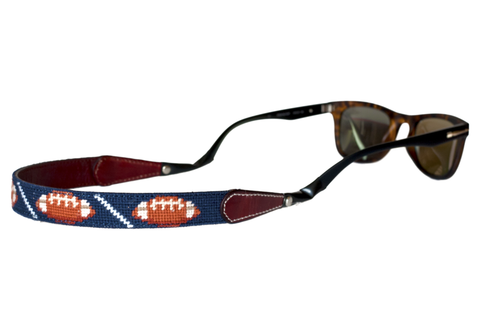 Asher Riley, football needlepoint sunglass straps