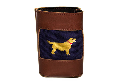 Asher Riley golden retriever needlepoint can cooler