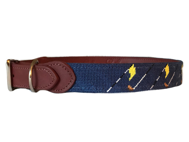 GOLF CLUB NEEDLEPOINT DOG COLLAR™