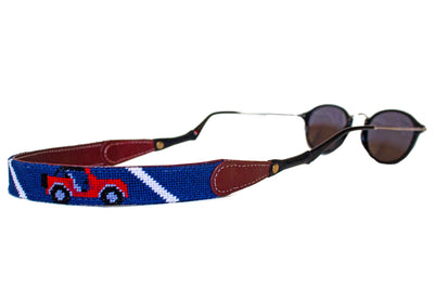 Jeep needlepoint sunglass straps by Asher Riley