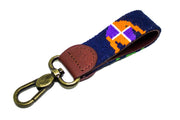 Jockey Needlepoint Key Fob by Asher Riley