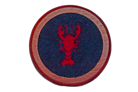 Lobster Needlepoint Coaster