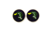 Mallard needlepoint cufflinks by Asher Riley