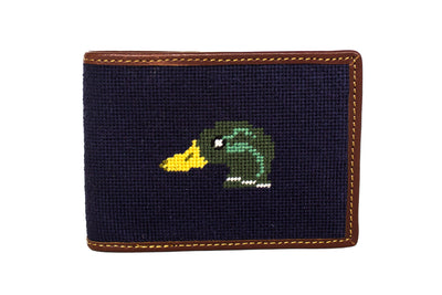 Mallard needlepoint wallet by Asher Riley