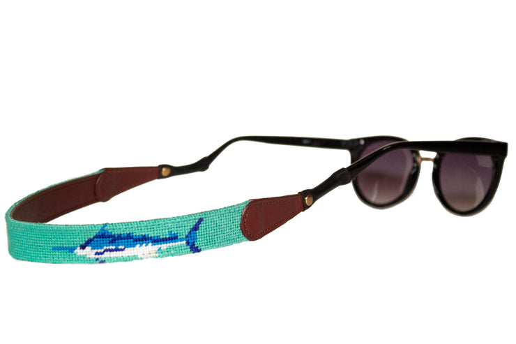 Asher Riley marlin needlepoint sunglass straps