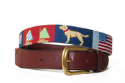 custom needlepoint belt by asher riley