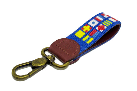 NAUTICAL FLAG NEEDLEPOINT KEY FOB™