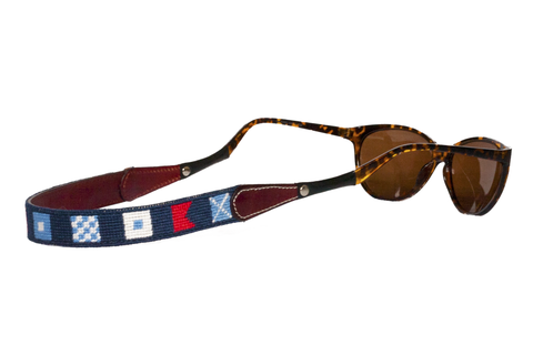 Nautical Flag Needlepoint Sunglass Straps Asher Riley