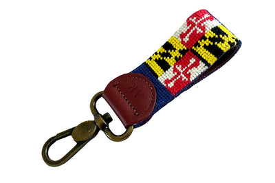 MARYLAND FLAG NEEDLEPOINT KEY FOB™